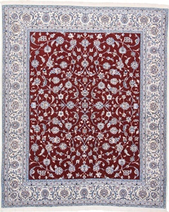 9x8 red nain persian rug