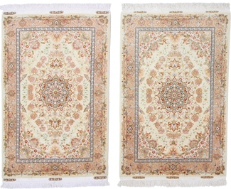 5x3 twin silk tabriz rugs
