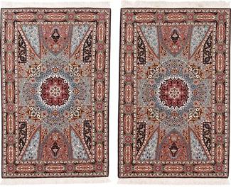5x3 gonbad twin tabriz rugs