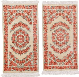 3x2 twin silk qum persian rugs