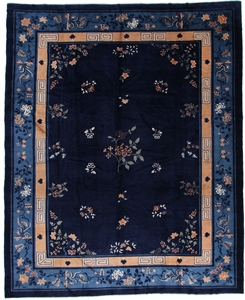 13x9 blue antique peking chinese rug