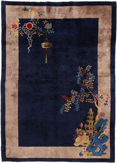 blue antique peking chinese rug