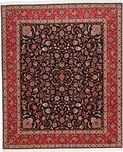 10x8 tabriz persian rug with silk