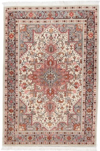 5x3 Heriz Tabriz Persian rug with silk