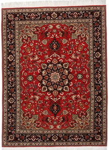 7x5 Tabriz Persian rugs. Handmade high quality Tabriz carpet with silk.