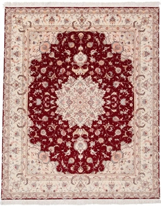 9x8 silk foundation tabriz carpet