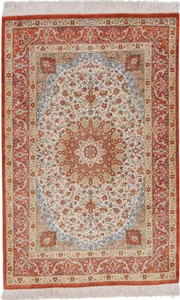 3x2 625kpsi silk qum persian rug