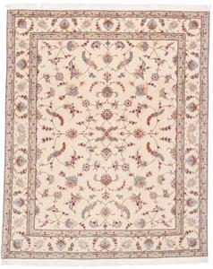 signed 8x6 faraji tabriz persian rug