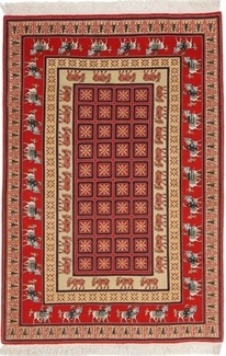 5x3 silk tabriz persian rug with pazyryk design