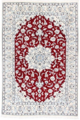 6x4 red nain persian rug