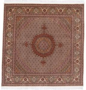 7x7 pirouzian square mahi tabriz persian rug