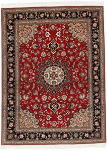 6x4 beige tabriz persian rug with silk
