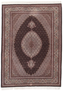 6x4 mahi tabriz rug with silk