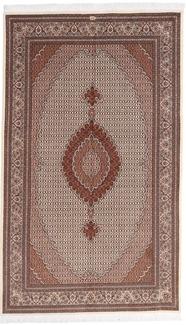 pirouzian 8x5 mahi tabriz rug with silk