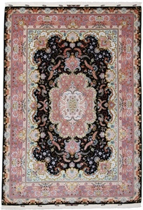 11x8 625kpsi 70raj black tabriz persian rug