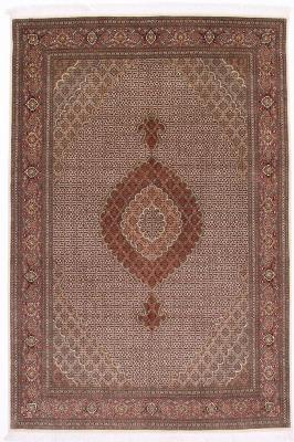 pirouzian 9x6 mahi tabriz rug with silk