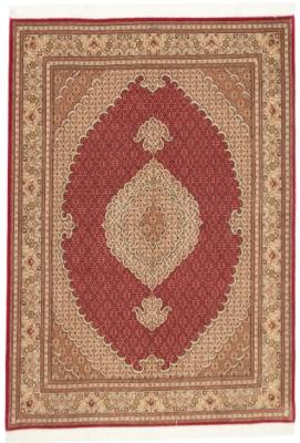 pirouzian mahi tabriz rug with silk