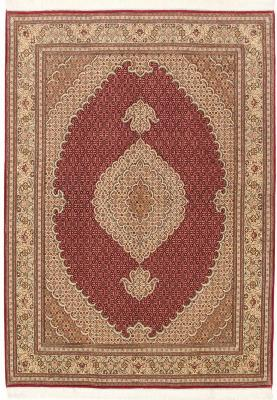 pirouzian mahi tabriz rug with silk