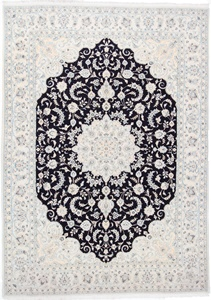 11x8 navy blue nain persian rug