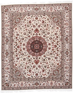 10x8 Tabriz Persian rug with silk and 350 KPSI