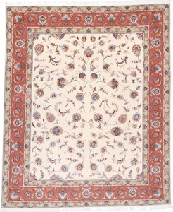 9x8 tabriz persian rug with silk