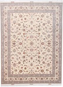 signed 13x9 faraji tabriz persian rug
