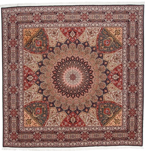 10' Square Gonbad Tabriz Persian rugs