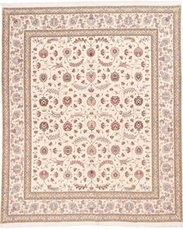 signed 9x8 faraji tabriz persian rug