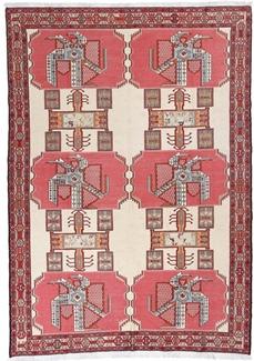 9ft by 6ft kelim silk persian rug