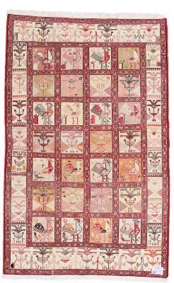 6x4 kelim silk persian rug
