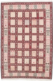 6ft by 4ft kelim silk persian rug