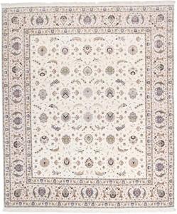 signed 13x11 faraji silk tabriz persian rug