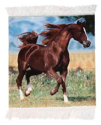 horse pictorial silk tabriz persian rug