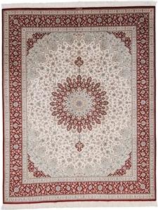 8x6 500kpsi pure silk Qum Persian rug