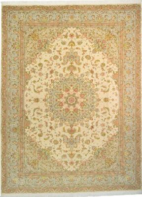 11x8 tabriz rug with silk