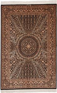 5x3 gonbad qum silk rug