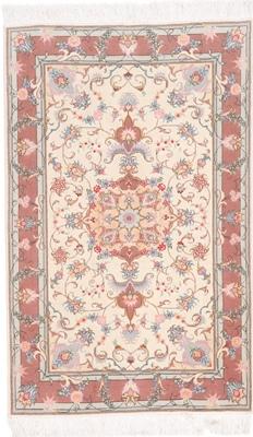 4x3 Tabriz Persian rug with silk