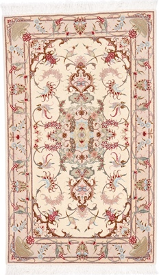 4x3 Mahi Tabriz Persian rug with silk