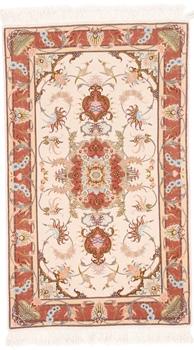 3x2 tabriz persian rug with silk