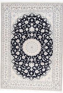 9x6 navy blue nain persian rug
