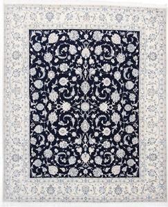Nain 9Lah Persian rug. Wool 9La Nain Persian carpet with silk