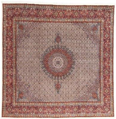 9foot square moud persian rug