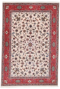 9x6 tabriz persian rug with silk