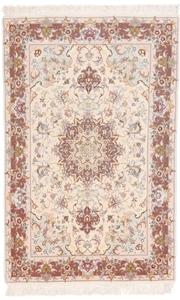 5x3 55raj silk tabriz persian rug