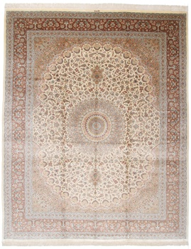 14x11 500kpsi pure silk Qum Persian rug