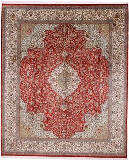 9x8 350KPSI silk Kashmir Persian rug, 18/18 kashmir carpet