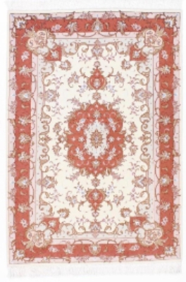 5x3 beige tabriz persian rug with silk