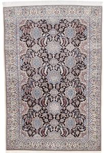 7x5 dark silk nain persian rug