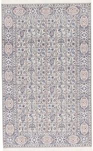 7x4 handmade silk nain persian rug