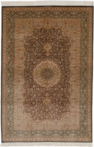 6x4 qum persian carpet 800kpsi silk